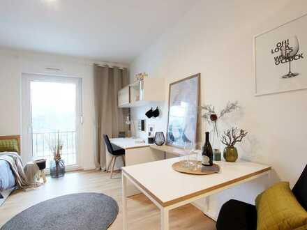 Kluges Konzept und schönes Design: Top möbliertes 1-Zimmer- Apartment in Dortmunds Innenstadt