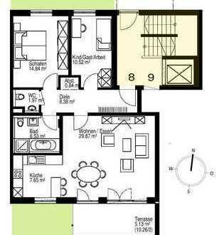 Großzügige 3-Zimmer-Wohnung mit Südterrasse und Garten zum Park