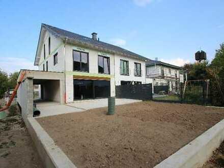 Neubau-Erstbezug Doppelhaushälfte, gehobene Bauausführung, 5 Zimmer, 161qm, Garage, Terrasse, Garten
