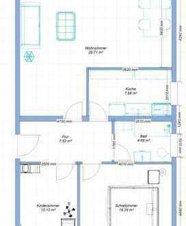 Erstbezug nach Sanierung mit Balkon: freundliche 3-Zimmer-EG-Wohnung in Rodgau