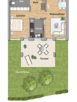 Zweizimmerwohnung mit Garten am Kleinfeldpark