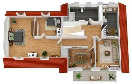 Attraktive gefällige ETW 4,5 Zimmer 1.Stock in BA-Gundelsheim. Wohnbad, Balkon, großer Garten,Garage