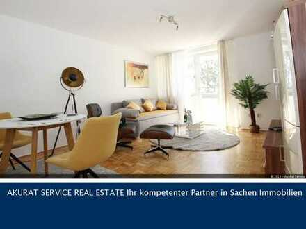 vollmöblierte 2-Zimmer-Wohnung mit Südloggia im begehrten Solln