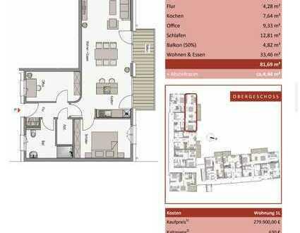 großzügige KFW 40 Neubau-Wohnung mit toller Aussicht ins Grüne