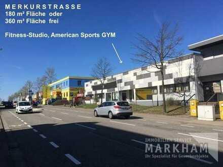 Variable Nutzungen möglich – z.B. Fitness-Studio, American Gym