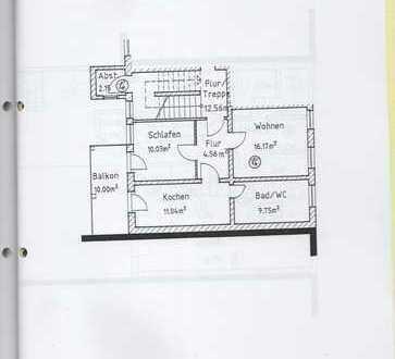 Vollständig renovierte 2-Zimmer-Wohnung mit Balkon in Hohenstein-Ernstthal
