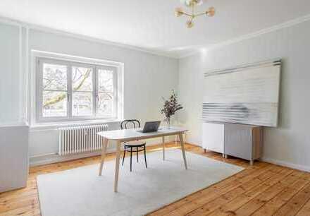 Kernsanierte 3-Zimmer-Wohnung in Berlin-Wedding mit Dielen und Loggia