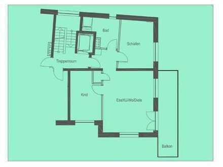 Erstbezug: freundliche 3-Zimmer-Wohnung mit Einbauküche und Balkon in zentraler Lage