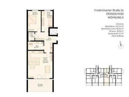 großzügiger Wohnkomfort im Erdgeschoss (inkl. Gäste-WC)