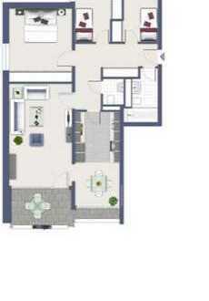 Stilvolle 4-Zimmer-Wohnung mit Balkon und Einbauküche in Düsseldorf