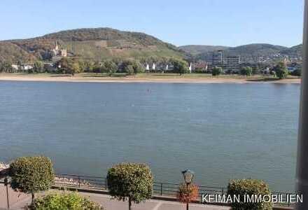 Exklusive Mietwohnung mit Traum-Aussicht direkt am Rhein - Einbauküche und Einbauschränke inklusive!