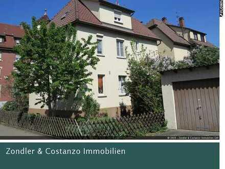 Freistehendes 3-Familienhaus mit Doppelgarage in Stuttgart-Wangen
