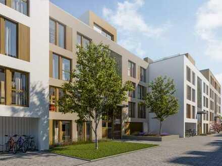 4-Zi.-Wohnung mit ausgesuchten Materialien und sonnigen Außenbereichen in familienfreundlicher Lage