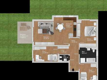 Familienfreundliche 4 Zimmer Erdgeschosswohnung