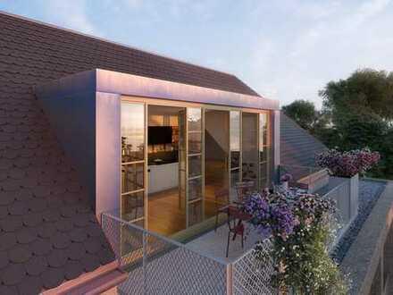 traumhaftes luftiges Dachatelier, offen bis zum Dachfirst - Baubeginn erfolgt!