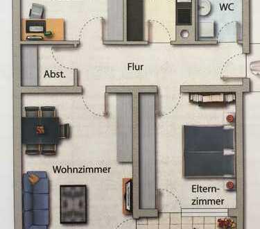 Großzügige 3 Zimmer mit Balkon und EBK im Südwesten Weingartens