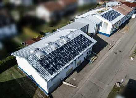Top Fabrikgebäude mit Produktionshallen, Lager, Büros, Garagen, Lkw-Laderampe und vieles mehr
