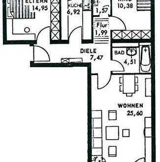Schöne drei Zimmer Wohnung in Ludwigsburg (Kreis), Gerlingen