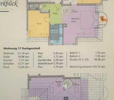 Bezugsfreie 3-Zimmer-Wohnung (auch 4 Zi. möglich), zentral gelegen, zu verkaufen