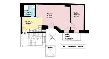 *trendiges Schlachthofviertel*sanierte 2-Zimmerwohnung mit Balkon*EBK*Keller*