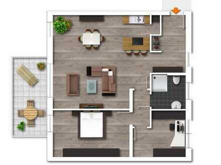 Neubau im schönen Wohngebiet- moderne Wohnung mit Balkon