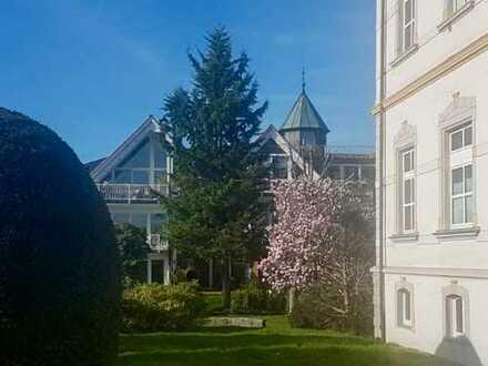 Stilvoll wohnen mit Ruhe und Rheinblick in exklusiver, parkähnlicher Wohnlage