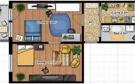 Sonnige 2-Raum-Wohnung für sportliche Mieter