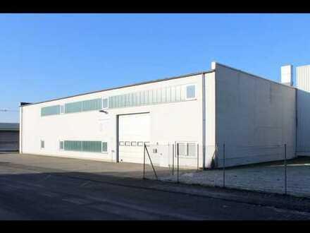 Helle, geräumige Gewerbehalle mit Büro und Stellplätzen