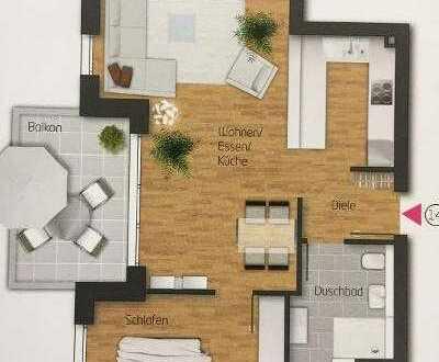 Neuwertige 2 Zimmer-Wohnung mit Südbalkon und Einbauküche in Renningen-Malmsheim