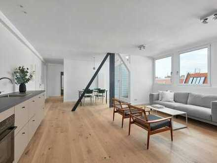 Erstbezug: Stilvolles Penthouse im Kiez.