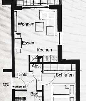 Sonnige zwei Zimmer Wohnung in Würzburg, Lengfeld