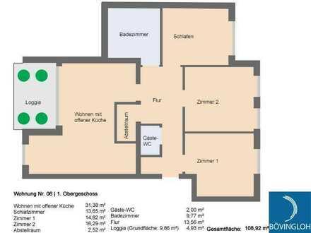 barrierefreie Neubauwohnung mit 3 Schlafzimmern in Citylage