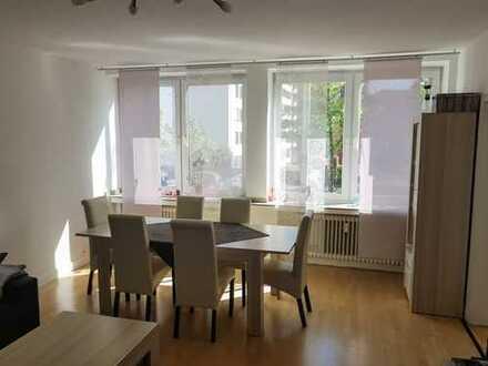 Sympatische 3-Raum-Wohnung mit Balkon ins Grüne, Einbauküche und Garage, wieder frei, in Düsseldorf