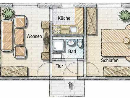Klein aber Fein! 2-Zimmer-Wohnung mit Dusche