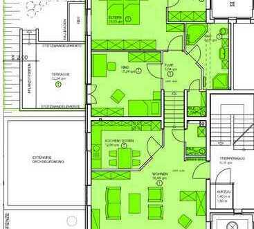 Neubauwohnung mit Terrasse und Aufzug in ruhiger Randlage