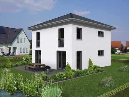 Moderne Stadtvilla KfW55 incl. ca. 420m² Grundstück in Bellenberg