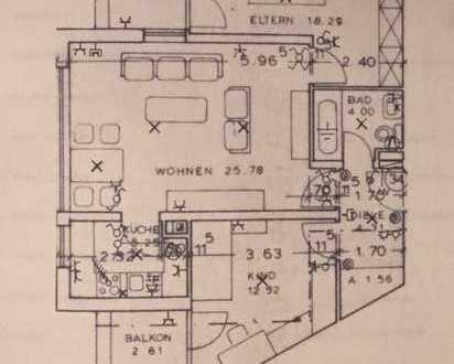 75,5 qm -Wohnung