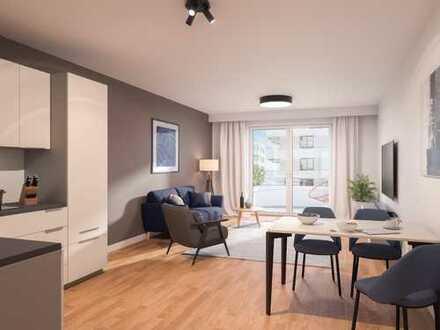 Moderne 2-Zimmer-Wohnung mit luftigem Raumgefühl und Balkon in bester Umgebung