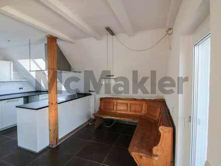 Zentrale Lage ca. 20 min von Mannheim: Maisonette mit 4 Zi. (120 m²) + verm. 1-Zi.-Apartment (37 m²)