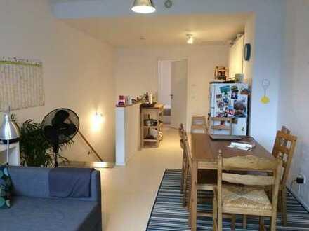 Gemütliche 3-Zimmer-Wohnung auf zwei Etagen mit Balkon und Einbauküche in Heidelberger Bahnstadt