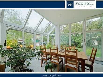 Schöne Garten-Maisonette mit Wintergarten, Dachterrasse und zwei Balkonen