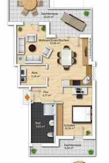 * * * Betreutes Wohnen in Bü.-Bobstadt - Exkl. Penthouse Wohnung 2,5 Zimmer - Neubau/Erstbezug * * *