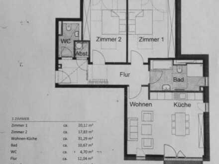 Modern-helle energieeffiziente 3-Zi.-Neubau-Komfortwohnung mit Südbalkon zum Schloßpark