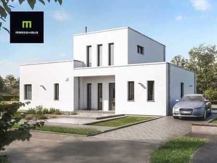 Moderne Villa im Bauhaus - Stil mit großer Dachterrasse in Reform