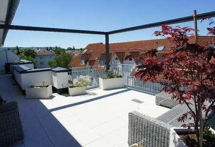 + möbliertes Penthouse mit großer Dachterrasse +