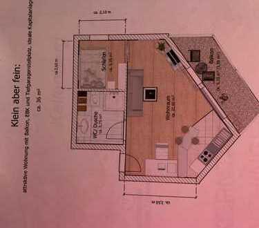 Exklusive, geräumige 1-Zimmer-Wohnung mit Balkon und Einbauküche, Korntal-Münchingen
