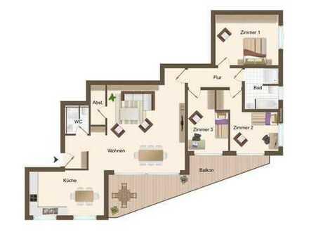 Wohnung 5: 4 Zimmer im 1. Obergeschoss mit ca. 144 m²