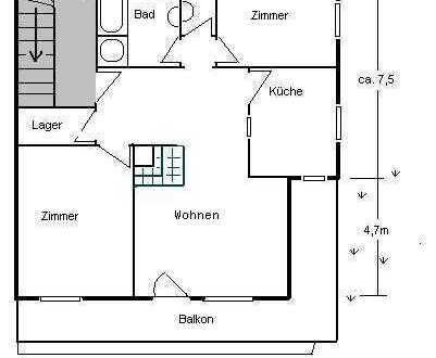 Gepflegte 3-Raum-Wohnung mit Balkon in Görwihl