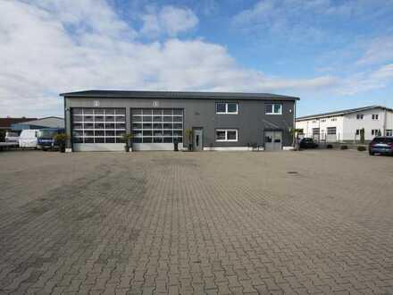 Grosses Gewerbegrundstück mit Bürogebäude und LKW Halle plus Ausbaureserve!