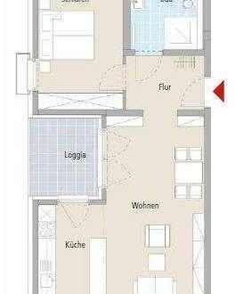2-Zimmer-Wohnung im betreutem Wohnen mit herrlicher West-Loggia